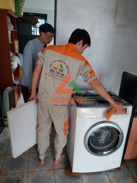 Dịch vụ sửa máy giặt bị tắc nước tại nhà